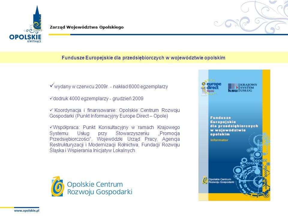 Fundusze Europejskie dla przedsiębiorczych w województwie opolskim