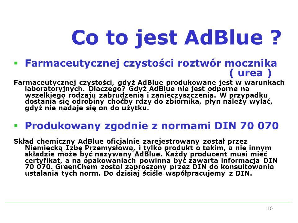 Co to jest AdBlue Farmaceutycznej czystości roztwór mocznika ( urea )