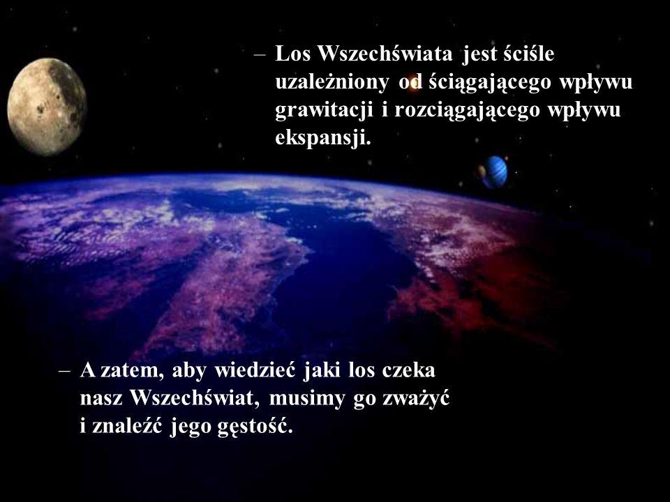 Los Wszechświata jest ściśle uzależniony od ściągającego wpływu grawitacji i rozciągającego wpływu ekspansji.