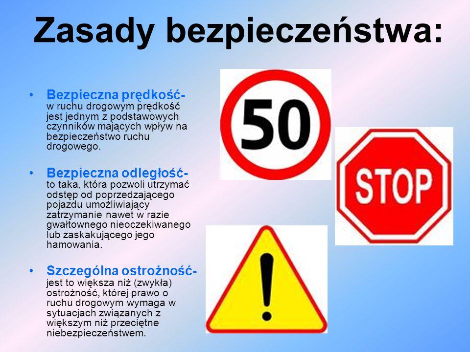 Zasady bezpieczeństwa: