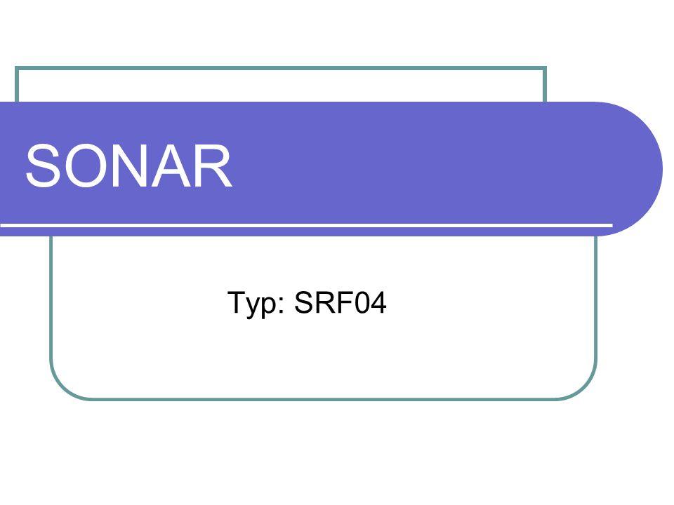 SONAR Typ: SRF04