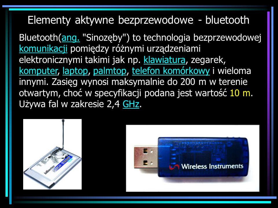 Elementy aktywne bezprzewodowe - bluetooth