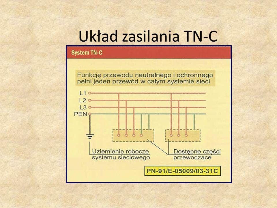 Układ zasilania TN-C Treści kształcenia