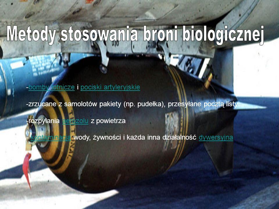 Metody stosowania broni biologicznej