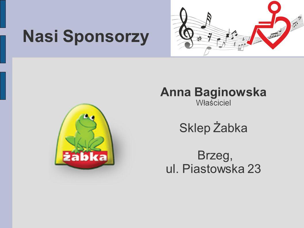 Nasi Sponsorzy Anna Baginowska Sklep Żabka Brzeg, ul. Piastowska 23