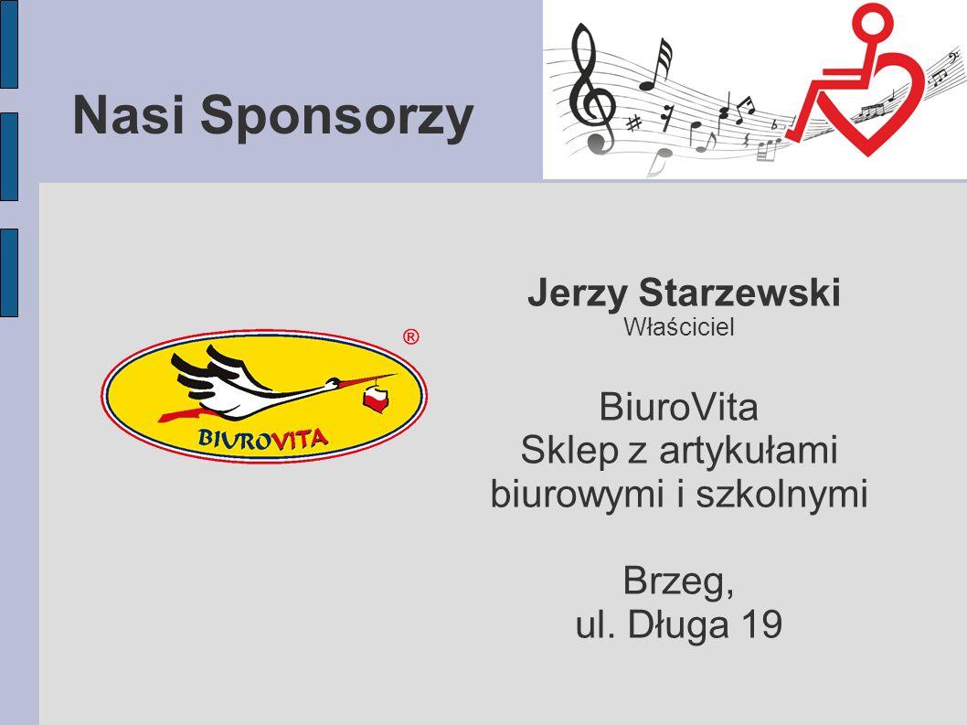 Nasi Sponsorzy Jerzy Starzewski BiuroVita Sklep z artykułami