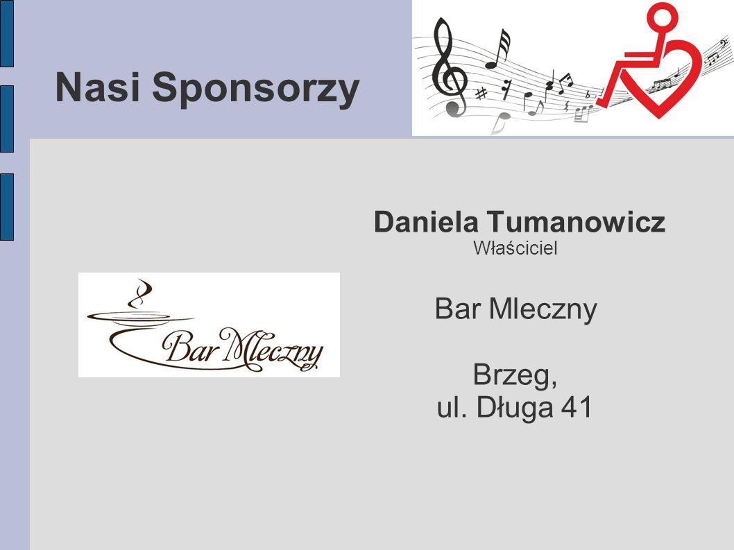 Nasi Sponsorzy Daniela Tumanowicz Bar Mleczny Brzeg, ul. Długa 41
