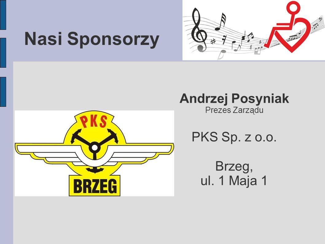 Nasi Sponsorzy Andrzej Posyniak PKS Sp. z o.o. Brzeg, ul. 1 Maja 1