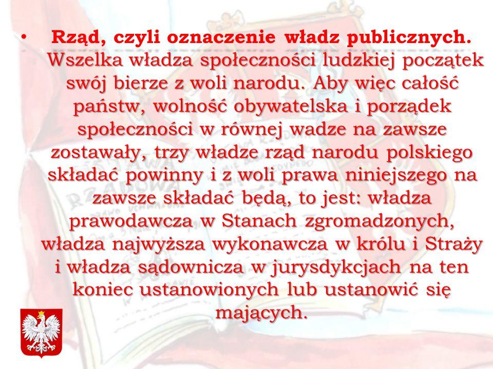 Rząd, czyli oznaczenie władz publicznych