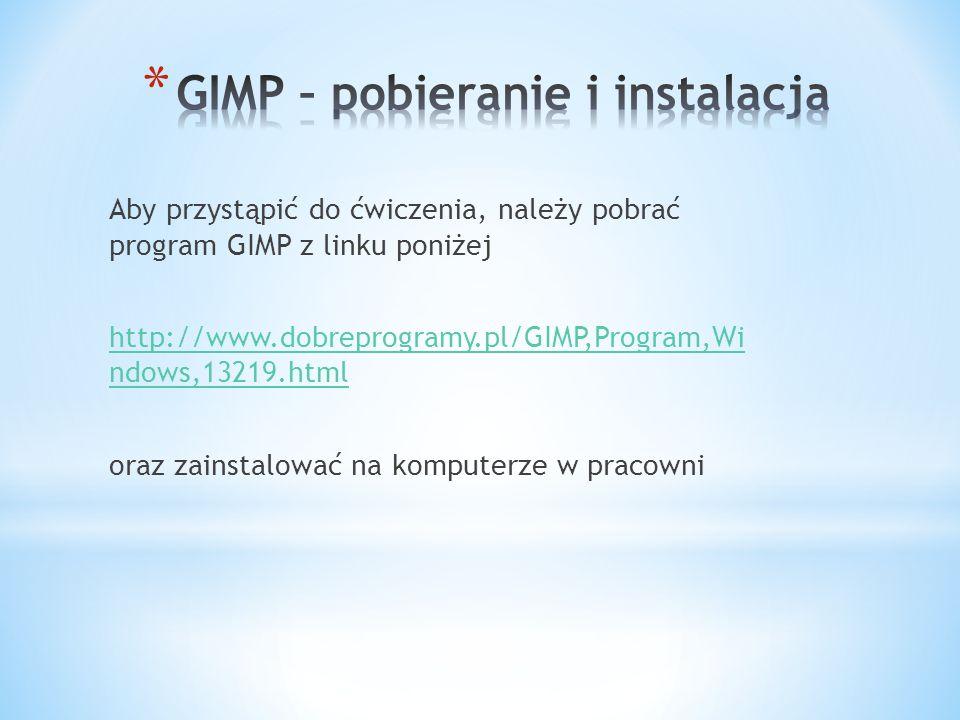 GIMP – pobieranie i instalacja