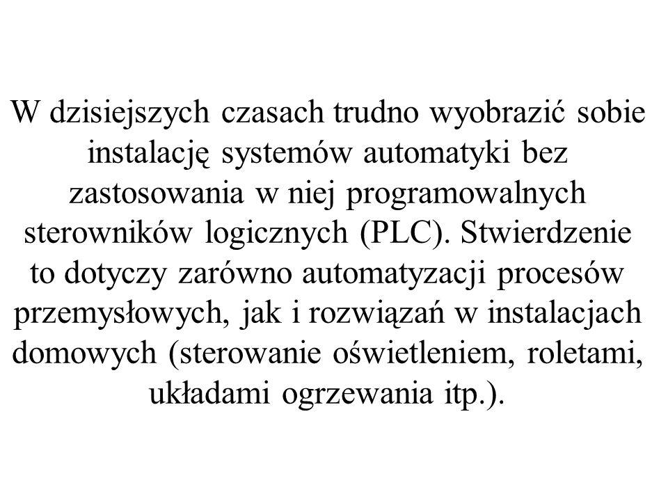 W dzisiejszych czasach trudno wyobrazić sobie instalację systemów automatyki bez zastosowania w niej programowalnych sterowników logicznych (PLC).