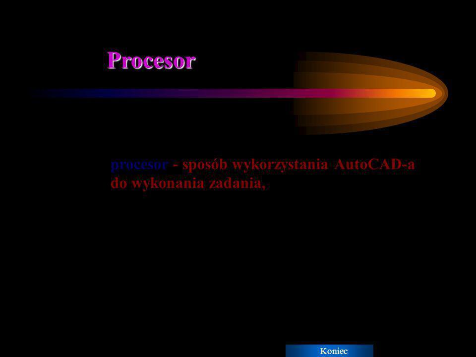 Procesor procesor - sposób wykorzystania AutoCAD-a do wykonania zadania, Koniec