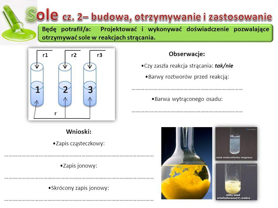 Sole cz. 2– budowa, otrzymywanie i zastosowanie