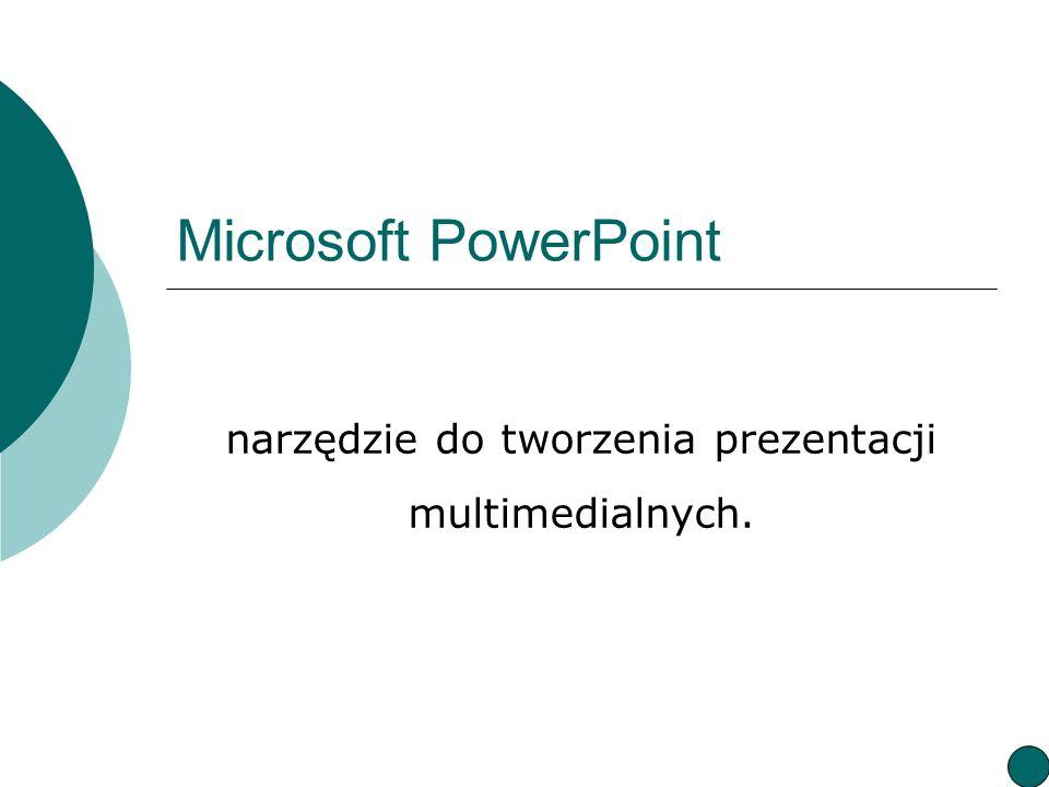 narzędzie do tworzenia prezentacji multimedialnych.