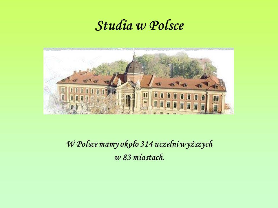 W Polsce mamy około 314 uczelni wyższych