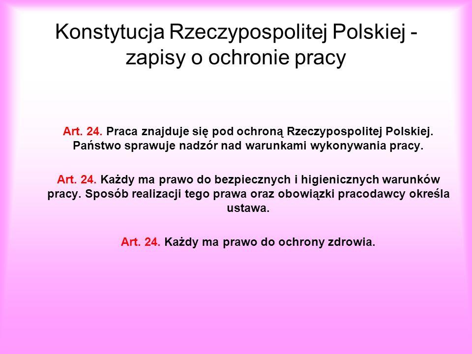 Konstytucja Rzeczypospolitej Polskiej - zapisy o ochronie pracy