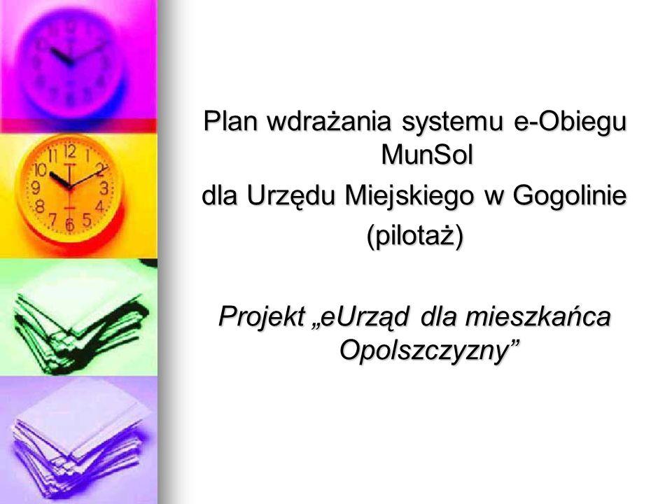 Plan wdrażania systemu e-Obiegu MunSol