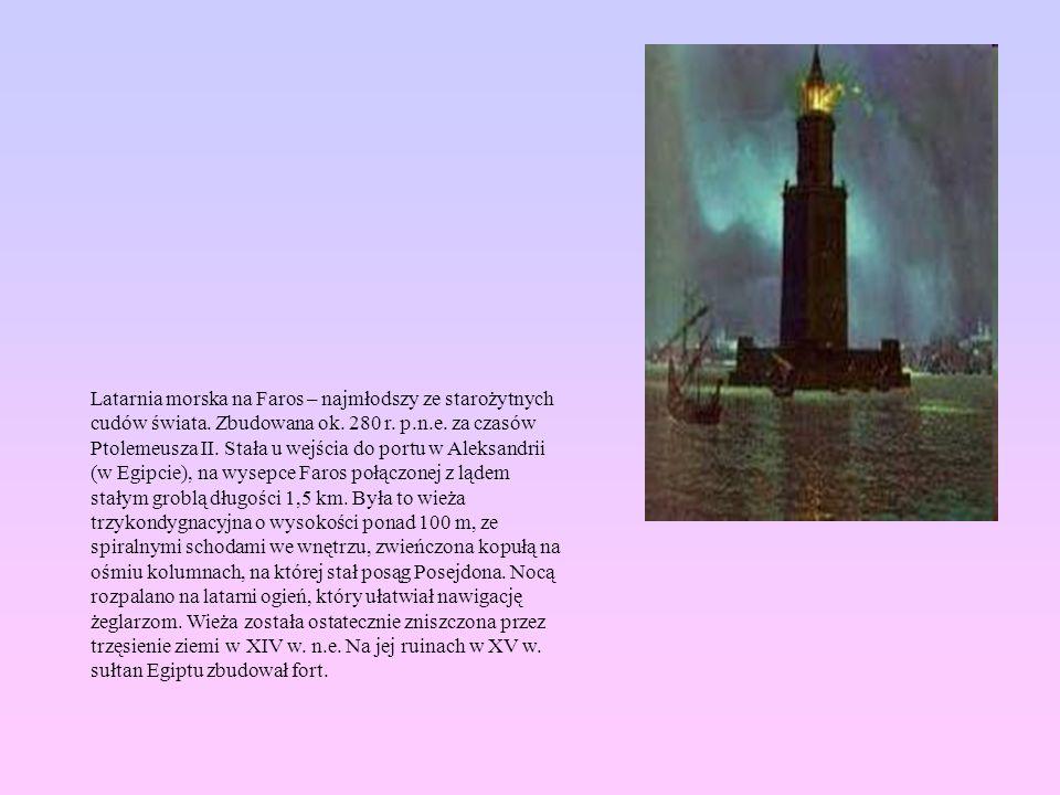 Latarnia morska na Faros – najmłodszy ze starożytnych cudów świata