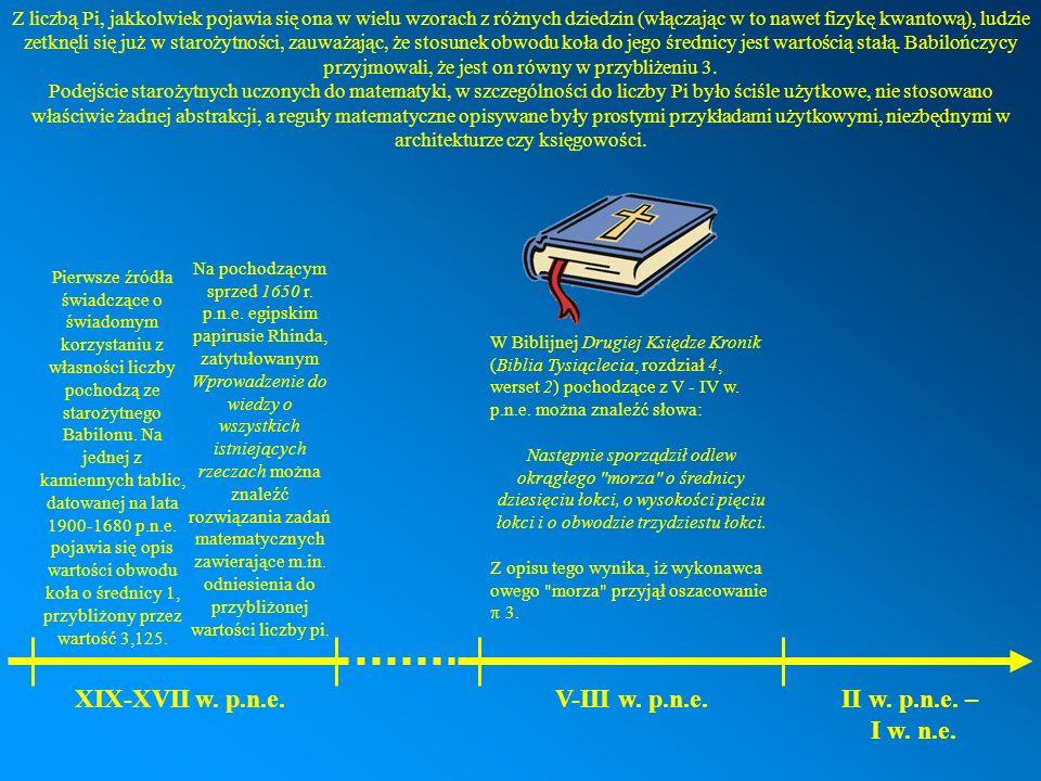 XIX-XVII w. p.n.e. V-III w. p.n.e. II w. p.n.e. – I w. n.e.