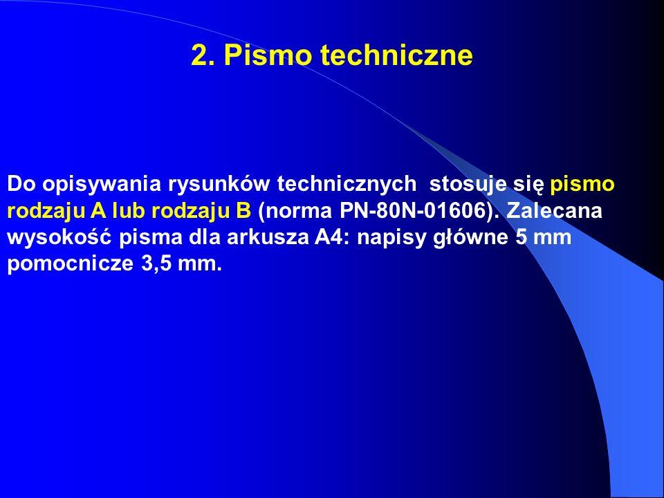 2. Pismo techniczne