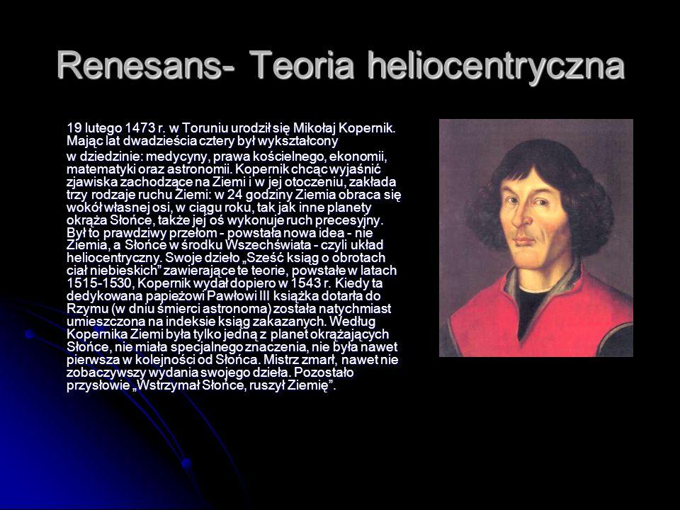 Renesans- Teoria heliocentryczna