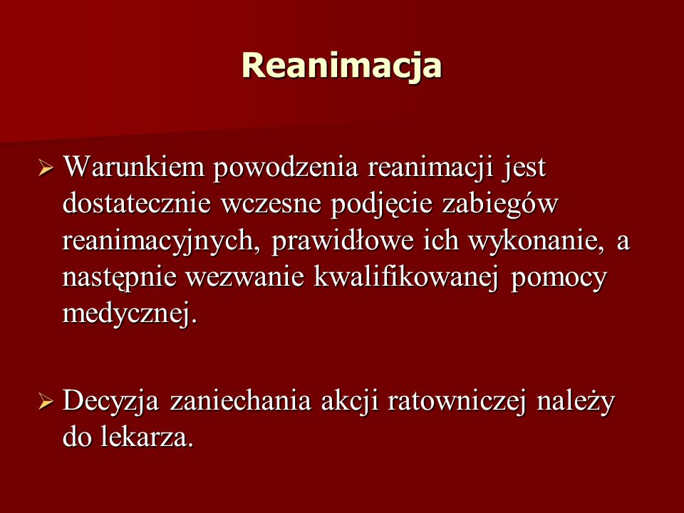 Reanimacja