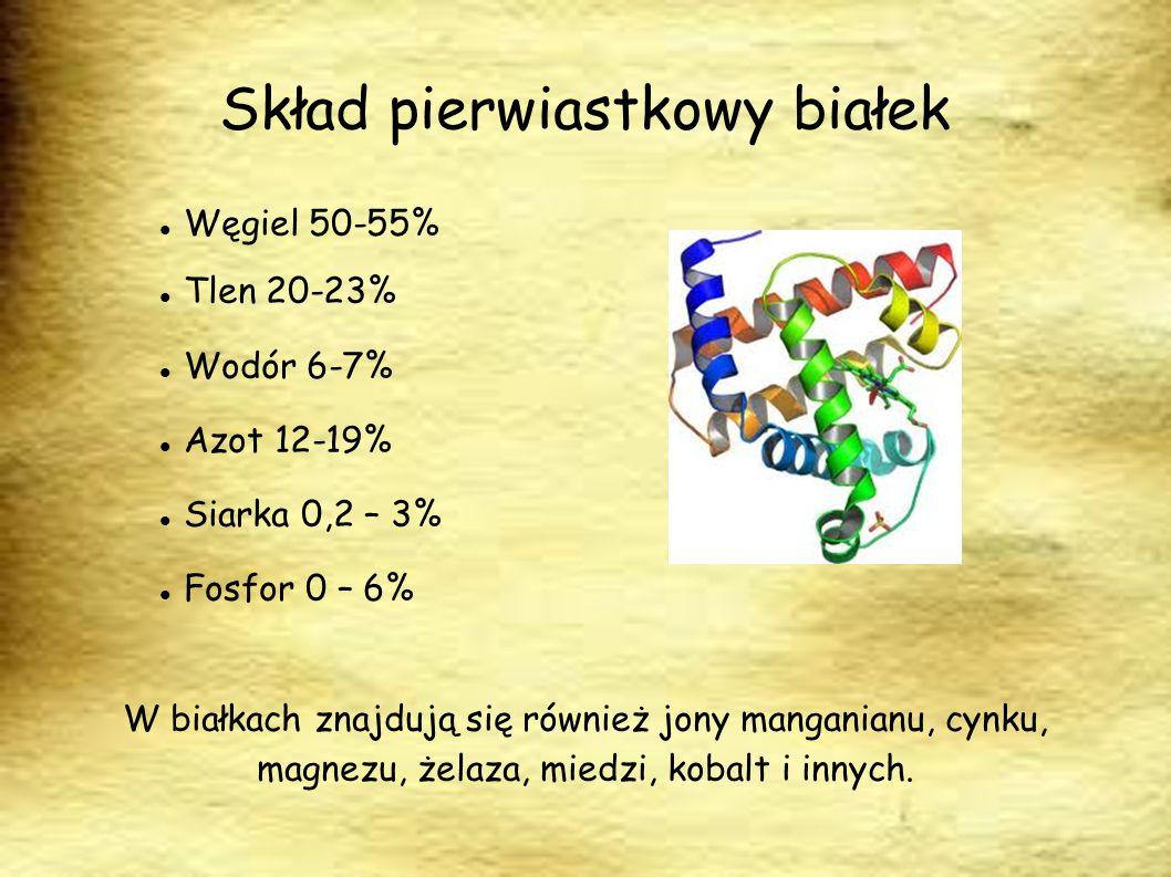 Skład pierwiastkowy białek