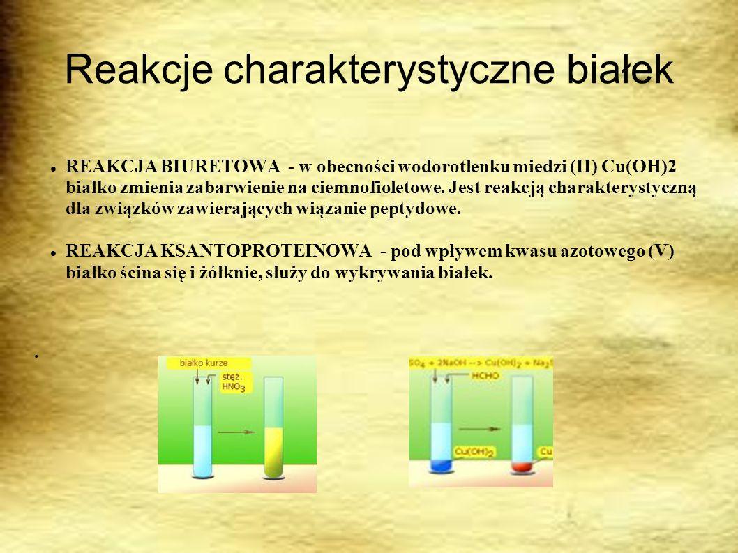 Reakcje charakterystyczne białek