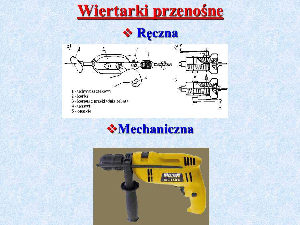Wiertarki przenośne Ręczna Mechaniczna