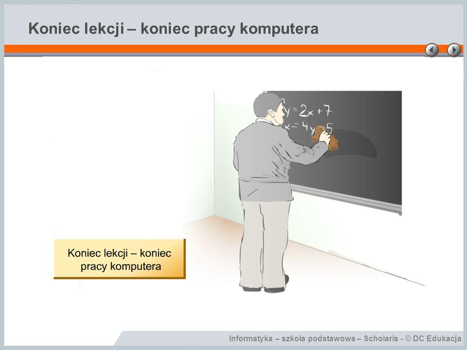 Koniec lekcji – koniec pracy komputera