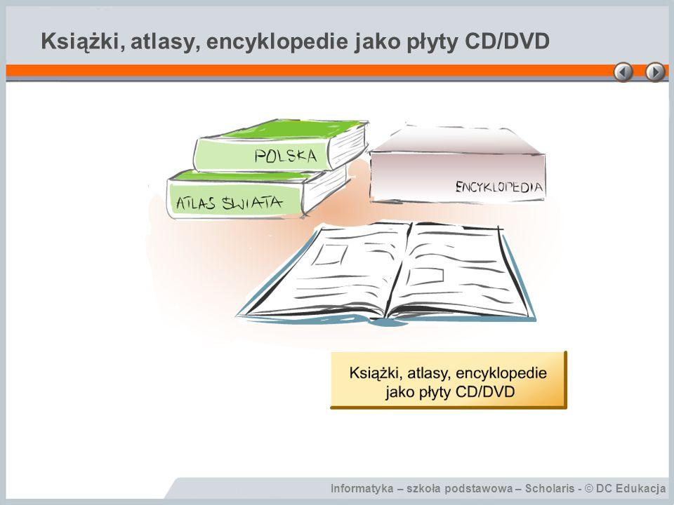 Książki, atlasy, encyklopedie jako płyty CD/DVD