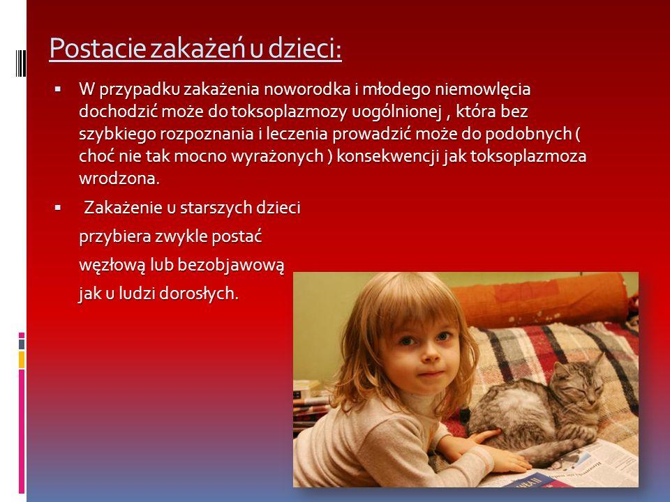 Postacie zakażeń u dzieci: