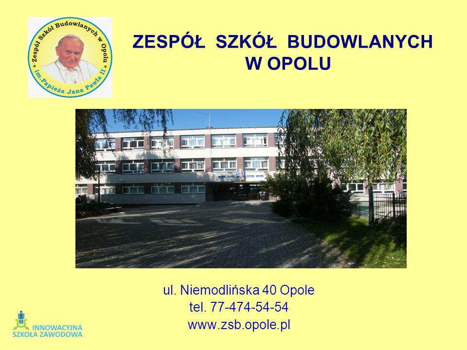 ul. Niemodlińska 40 Opole tel. 77-474-54-54 www.zsb.opole.pl