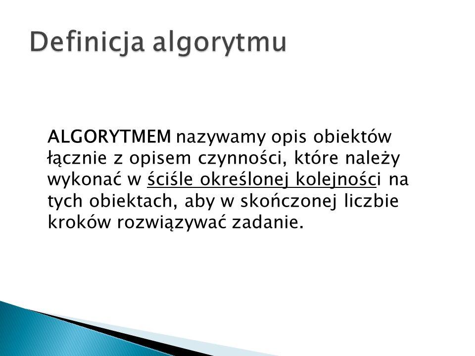 Definicja algorytmu