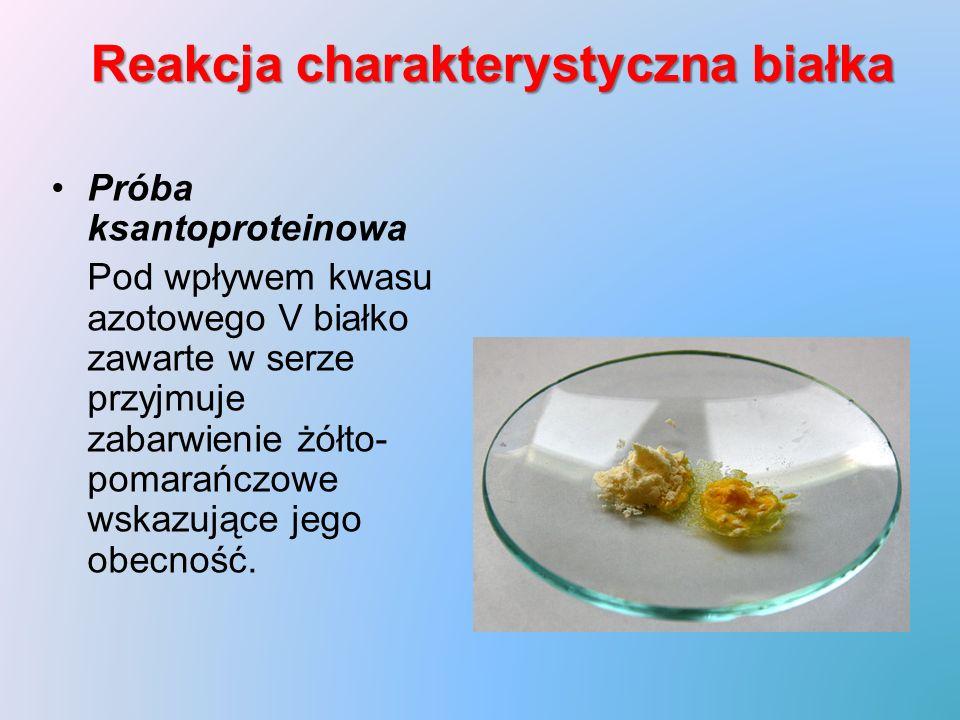 Reakcja charakterystyczna białka