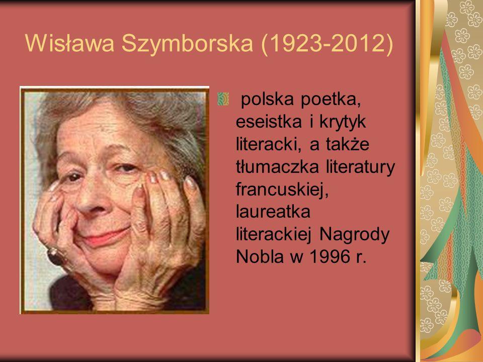 Wisława Szymborska (1923-2012)