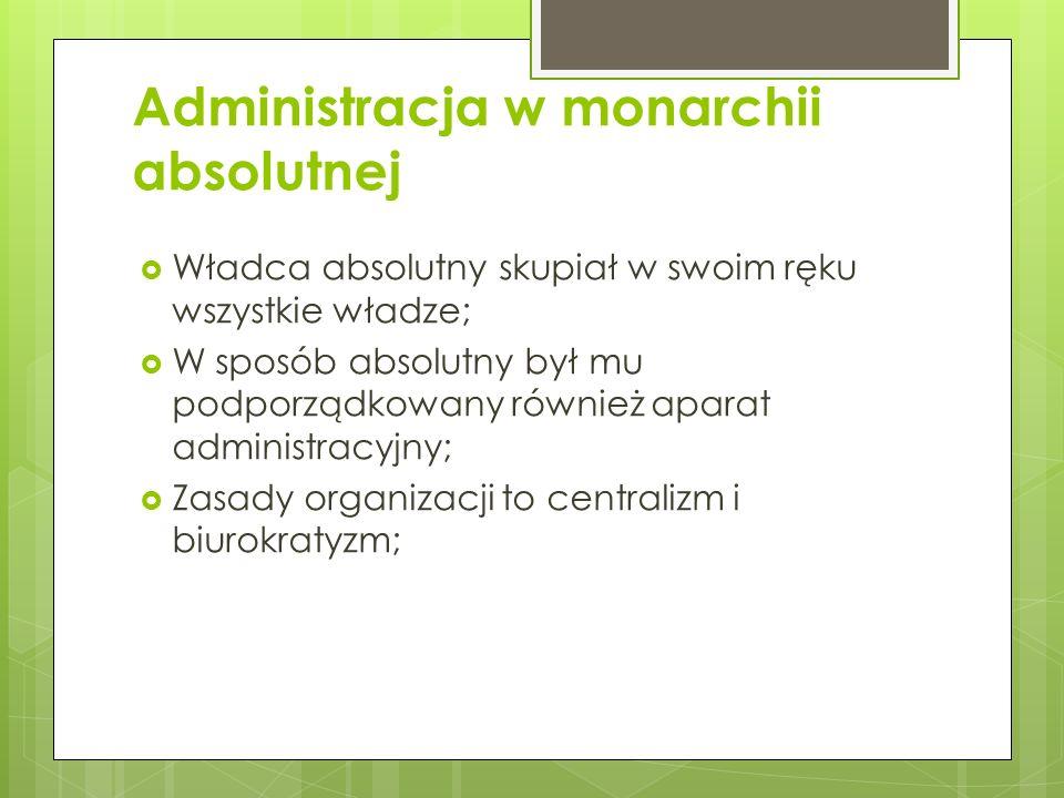 Administracja w monarchii absolutnej