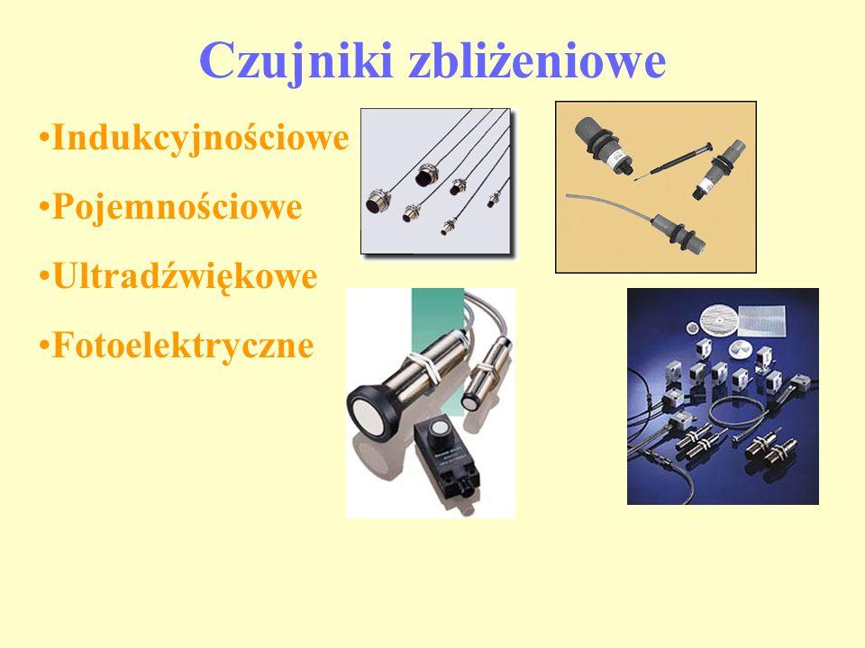 Czujniki zbliżeniowe Indukcyjnościowe Pojemnościowe Ultradźwiękowe