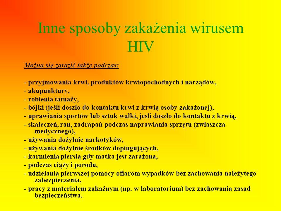 Inne sposoby zakażenia wirusem HIV