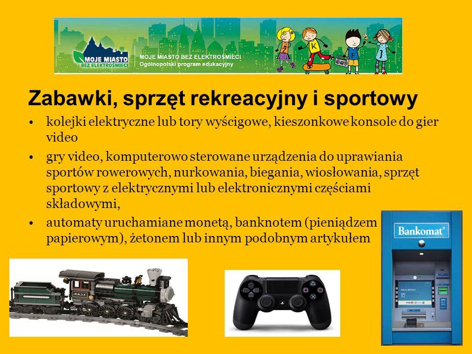 Zabawki, sprzęt rekreacyjny i sportowy