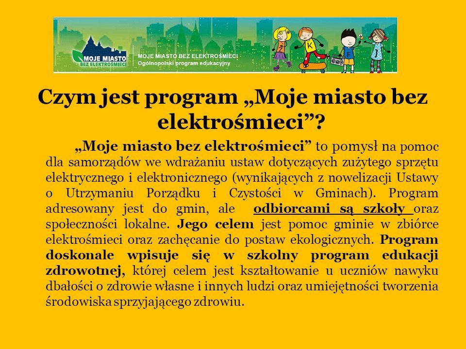 """Czym jest program """"Moje miasto bez elektrośmieci"""