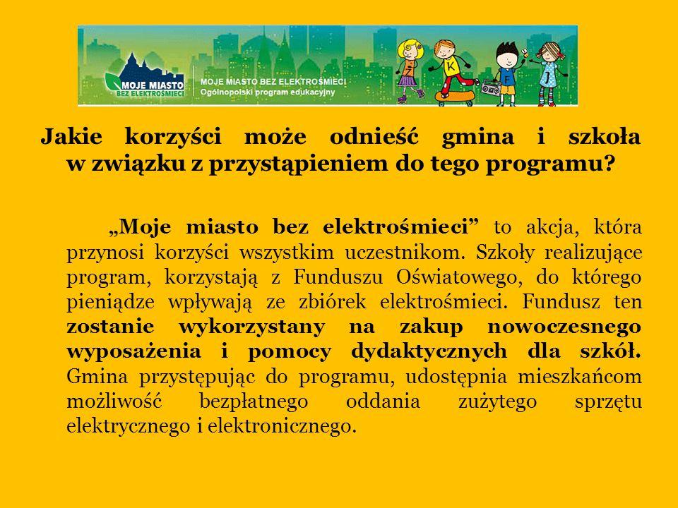 Jakie korzyści może odnieść gmina i szkoła w związku z przystąpieniem do tego programu