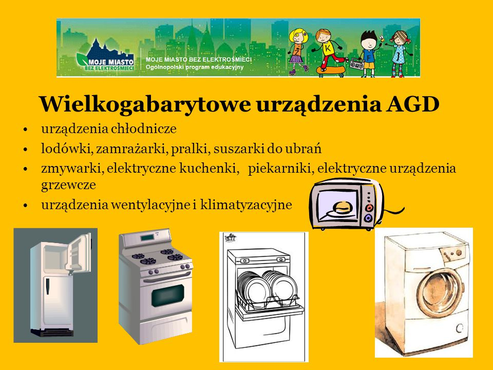 Wielkogabarytowe urządzenia AGD