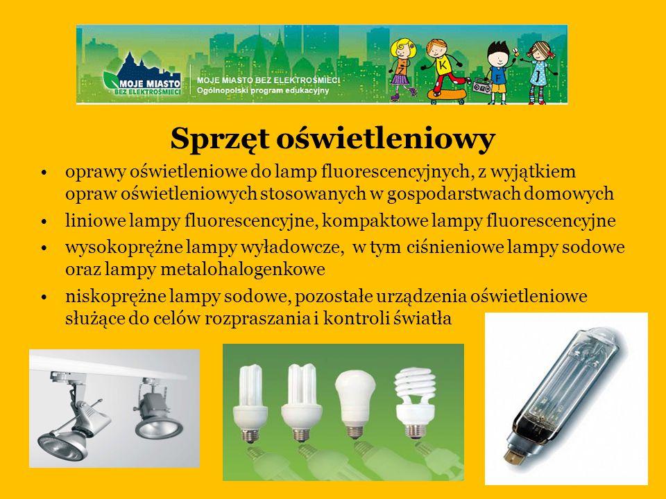 Sprzęt oświetleniowy oprawy oświetleniowe do lamp fluorescencyjnych, z wyjątkiem opraw oświetleniowych stosowanych w gospodarstwach domowych.