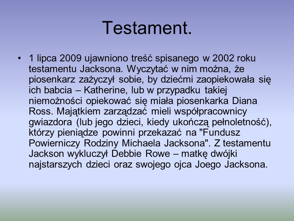 Testament.