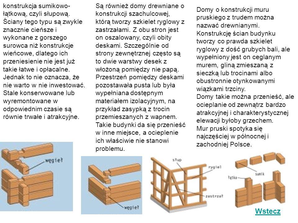 konstrukcja sumikowo-łątkową, czyli słupową