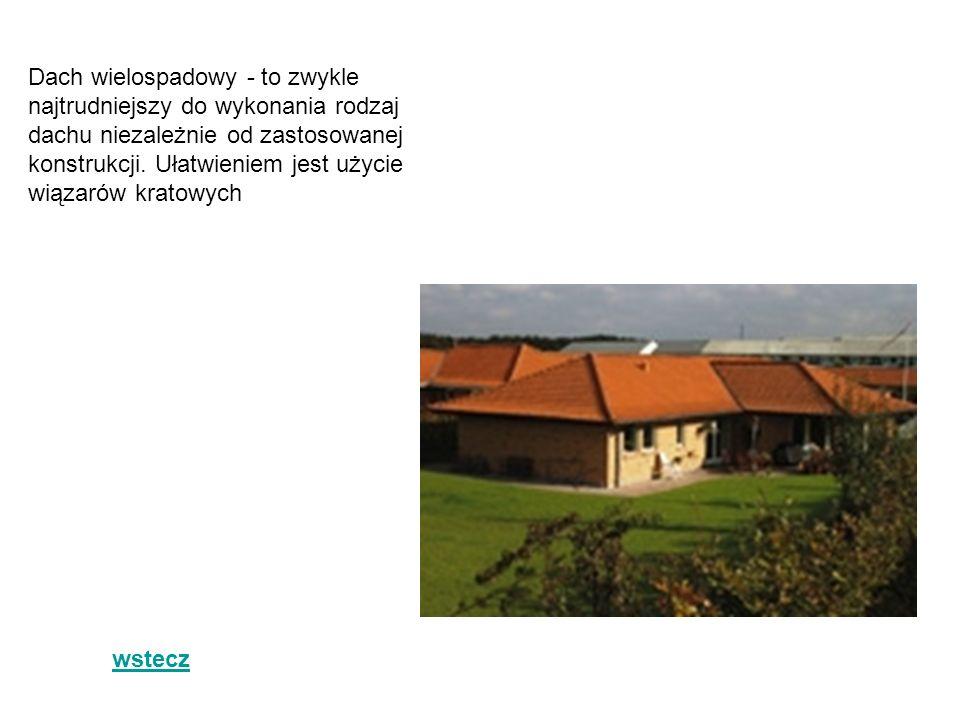 Dach wielospadowy - to zwykle najtrudniejszy do wykonania rodzaj dachu niezależnie od zastosowanej konstrukcji. Ułatwieniem jest użycie wiązarów kratowych