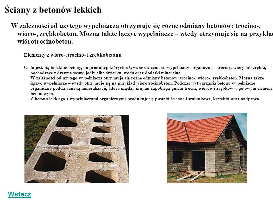Ściany z betonów lekkich