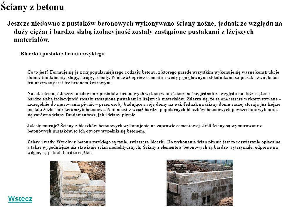 Ściany z betonu