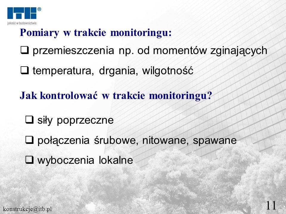 11 Pomiary w trakcie monitoringu: